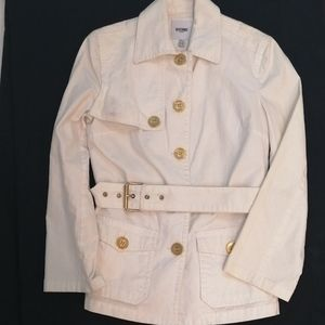 Moschino Donna Jeans White Belted Jacket sz 8